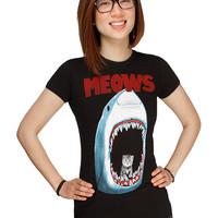 Meows Ladies' Fitted Tee - Black,