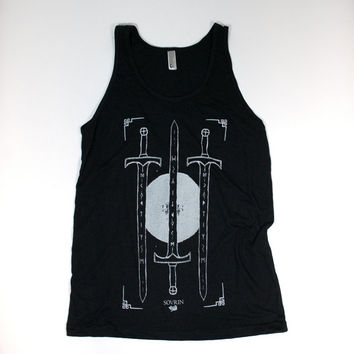 Sword and Runes tank size MEDIUM by SOVRIN on Etsy