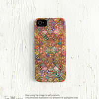 Unique iPhone 5 case, Unique iPhone 4 case, unique iPhone 4s case, multicolor colorful patchwork boho hipster hippie ethnic (c27)
