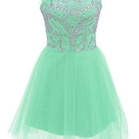 Dressystar Short Mint Prom Evening Prom Dresses Size 2