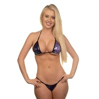 Micro G-String - Hollywood Purple - Black