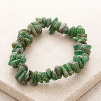 Green Jade Gemstone Nugget Power Bracelet