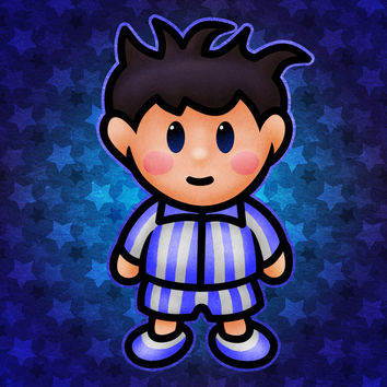 Ness in Pajamas Art Print by Likelikes