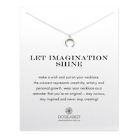 Let Imagination Shine Crescent Necklace, Sterling Silver | Dogeared