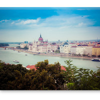Budapest Danube River Canvas Gallery Wrap