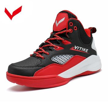 Brand Boys Children Basketball Shoes 360 Degree Breathable Strong Grip Sports Boots Basketball Sneakers for Kids