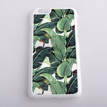 Vogueline Tropical Banana Tree Leaves Design Hard Case Cover Skin for iphone 6 case iphone 6plus iphone 5 5s 4 4s iphone 5c Samsung Galaxy S5 S3 S4 note 2 note3 note4 (Case for iPhone 5c(White Hard))