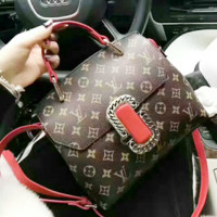 LV Nicolas Ghesquière Women Shopping Leather Crossbody Satchel Shoulder Bag G-AGG-CZDL