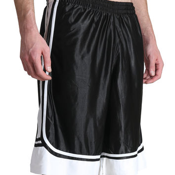 LE3NO Mens Active Color Block Basketball Short Pants (CLEARANCE)