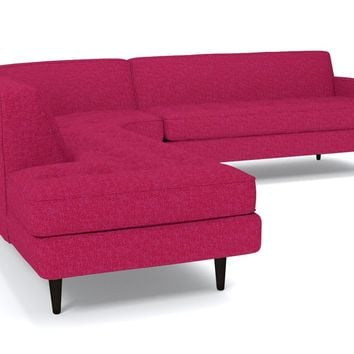 Monroe 3pc Sectional Sofa :: Leg Finish: Espresso / Configuration: LAF - Chaise on the Left