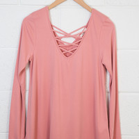 Criss Cross Top, Coral