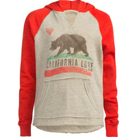 Billabong Cali Bear Girls Hoodie Red Combo  In Sizes