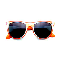 Retro Wayfarer Colorful Smoked Mirror Lens Sunglasses
