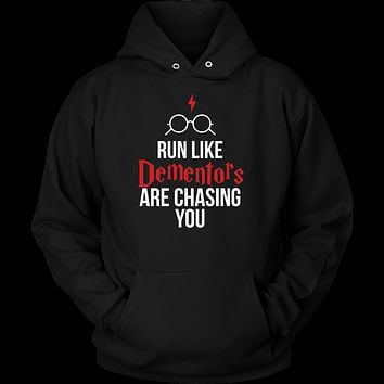 Harry Potter - run like dementors are chasing you - unisex hoodie - TL00964HO