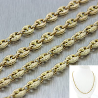 "Men's 14k Solid Yellow Gold 26"" Puffed Mariner Gucci 4mm Link Chain Necklace"