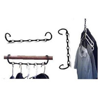 Magic Hangers turn dorm closets into a more spacious area.