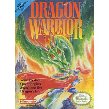 Retro Dragon Warrior Game Poster//NES Game Poster//Video Game Poster//Vintage Game Cover Reprint