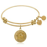 Career Collection Brass Bangle with Lawyer Symbol