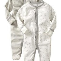 Little Bundles Footed One-Piece 2-Packs for Baby