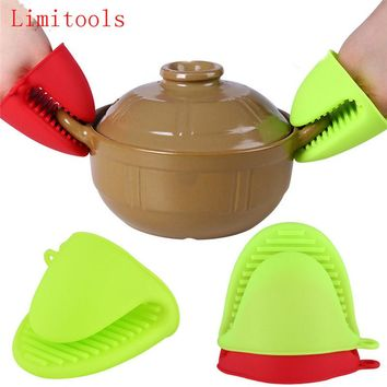 LIMITOOLS 1pc Cake Bakeware Heat Resistant Silicone Oven Glove Short Finger Hand Clip Oven Mitt Convenient Pot Holder