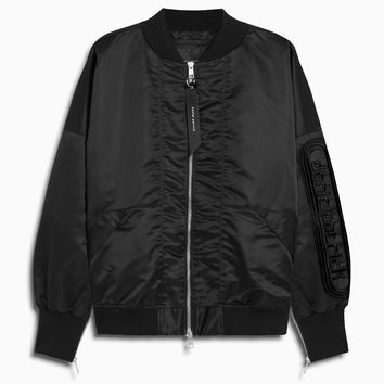 dp retro bomber / black + black