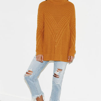 Kendall and Kylie Textured Mock Neck Sweater at PacSun.com