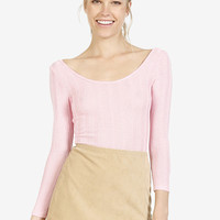 Buffy Knit Ribbed Leotard - Bubblegum Pink