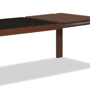 Barcelona Extension Dining Table Expresso/ Glass