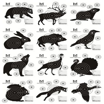 25pcs Archery Target Card Papper 15cmX15cm Air Rifle Pistol Gun BB Airsoft  Animal Targets For Shooting Practice