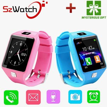 SzWatch DZ09 Smart Watch Support SIM TF Cards For Android IOS Phone Women Camera Children Bluetooth Watch With Russia PK A1 GT08