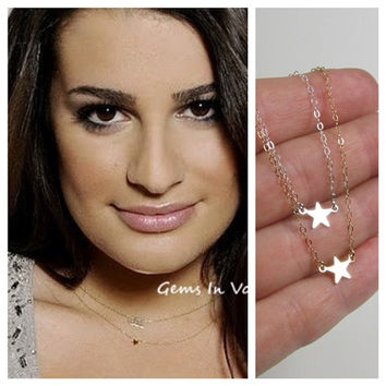 NEW TINY Star Station Necklace Lea MicheleGlee by gemsinvogue