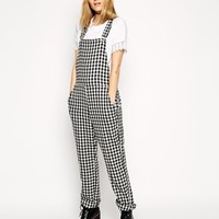 ASOS Reclaimed Vintage Overalls in Black and White Check