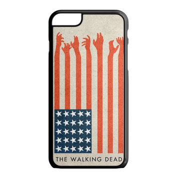 the walking dead america flag iPhone 6S Plus Case