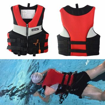 Adults Life Jacket Professional Universal Swimming Boating Skiing Drifting Fishing Foam Vest Thickened Life Vest S-XXL
