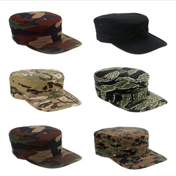 Unisex Camouflage Military Hat Army Ranger RipStop Soldier Cap Combat Hats Outdoor Sports Cap 11 Colors
