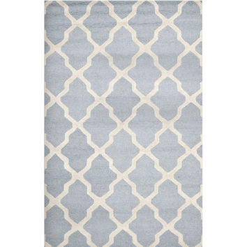 Langley Street Emilia Silver & White Ivory Area Rug & Reviews | Wayfair