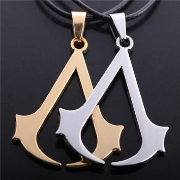 Assassin's Creed Assassin Insignia Necklace Gold or Silver