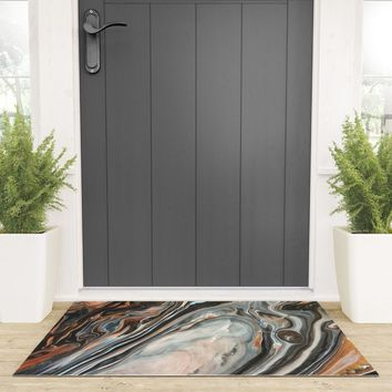 Copper and Stone Welcome Mat by duckyb