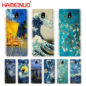 HAMEINUO Van Gogh Starry night wave cover phone case for Samsung Galaxy J3 J5 J7 2017  J527 J727 J327 J3 Prime J330 J530 J730
