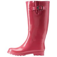 Pink Solid Rubber Rain Boots by Charlotte Russe