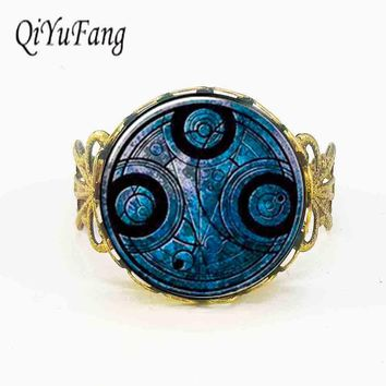 Steampunk drama dr doctor who timelord companion time lord tardis blue Nebula 1pcs/lot silver Ring jewelry man rings vintage