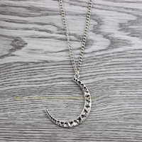 Alloy necklace - the moon charm necklace - women necklace