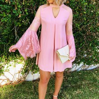Chase The Wind Dress: Blush