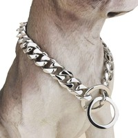 Cuban Chain Dog Collar