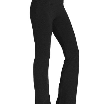 Kidsform Women's Yoga Pants Bootcut High Waist Stretchy Fitness Workout Trousers