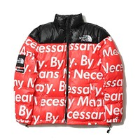 The North Face Supreme Fashion Down Jacket Cotton Coats Red