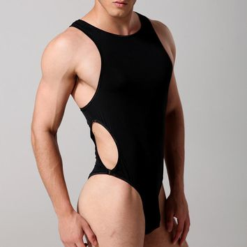 New Taustiem Brand Men Shapers Sexy Singlet Lingerie Underwear Man Body Shaper Bodysuit Wrestling Leotard