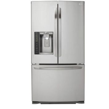 LG Electronics 24.7 cu. ft. French Door Refrigerator in Stainless Steel-LFX25973ST at The Home Depot