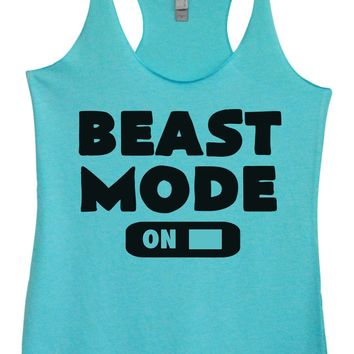 Womens Tri-Blend Tank Top - Beast Mode On