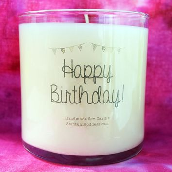 Happy Birthday Candle - Wish Your Friend a Happy Birthday Gift Candle